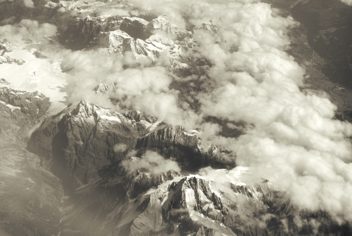 Alps- in Black & White